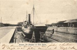 BELGIQUE - ANVERS - ANTWERPEN - Un Steamer En Cale Sèche. - Antwerpen
