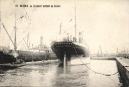 BELGIQUE - ANVERS - ANTWERPEN - Un Steamer Sortant Du Bassin (n°127). - Antwerpen