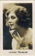 PHOTO Publicité Chocolat Cigarette Chewing Gum Artiste Spectacle Cinéma Actrice Jeanne HELBLING THANN NEW YORK - Cromo
