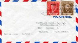 EL SALVADOR 1940? - 2 Fach Frankierung Auf LP-Brief Gelaufen Von San Salvador Nach Hamburg - El Salvador