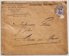 PAPETERIES Lucien Desbordes - WELLENS Successeur - à BRUXELLES Vers M. Frère, IMPRIMEUR à HAM-SUR-HEURE, 1923 - Printing & Stationeries