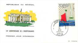 SENEGAL  1970  10é Ann. De L'Indépendance    FDC Non Adressé - Sénégal (1960-...)