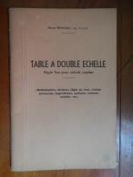 """Table A Double Echelle """"régle Fixe Pour Calculs Rapides"""" (Pierre Prachay)  De 1944 ?? - Wissenschaft"""