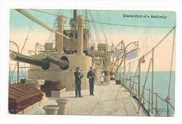 Quarterdeck Of A Battleship - Bateau De Guerre - Cuirassier ?  - Armée - Marine - Guerre  (2059)sf92 - Etats-Unis