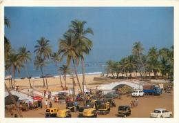 Colva Beach, Goa, India Postcard Used Posted To UK 2000 Gb Stamp - India