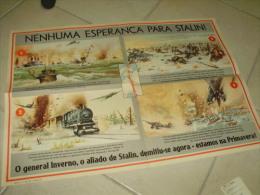 Poster Stalin Russia Invasion German Propaganda WWII - Documents