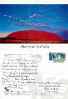 Uluru Ayers Rock, Northern Territory, Australia Postcard Used Posted To UK 2000 Stamp - Uluru & The Olgas