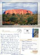 Uluru Ayers Rock, Northern Territory, Australia Postcard Used Posted To UK 2007 Stamp - Uluru & The Olgas