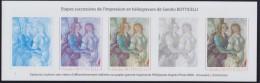 """Sandro Botticelli, Etapes Successives De L´impression Héliogravure De """"Vénus Et Les Grâces"""" 3301 Bloc Gommé Neuf - Blocs & Feuillets"""