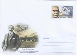 Moldova 2013 150th Birth Anniversary Of Pierre De Coubertin, Founder Of Olympic Committee - Moldova