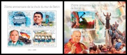 TOGO 2014 - Fall Of Berlin Wall. M/S + S/S. Official Issue - History
