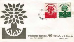 PAKISTAN 1960 - 2+10 AS Auf Brief Mit Stempel 1960 - Pakistan