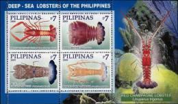 Philippines 2009 Deep Sea Lobster Minisheet MNH - Vie Marine
