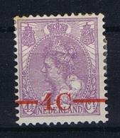 Netherlands NVPH 106P  MH/* 1921 Plate Error: Broken 4 - Period 1891-1948 (Wilhelmina)