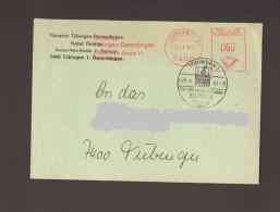 Tübingen  AFS Notariat Stempelirrtum 38.4.1981 Mit Zusätzlichem Richtigen Ortswerbestempel 28.4.81 - [7] West-Duitsland