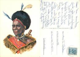 Kikuyu Dancer, Kenya Postcard Posted 1975 GB Stamp BFPO 1043 FIELD POST OFFICE Sapra Studio - Kenya