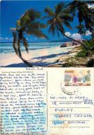 La Digue, Seychelles Postcard Posted 1988 Stamp - Seychelles