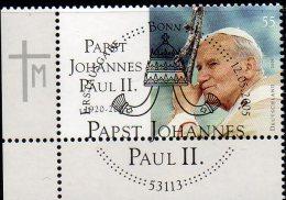 Todestag Papst J.Paul II. 2005 Deutschland 2460 ER O 2€ Porträt Papstes Johannes Pawel Polska Vaticano Stamps Of GERMANY - [7] Repubblica Federale