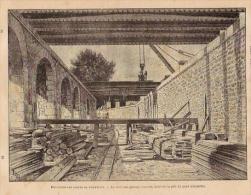 Belle Gravure 1900 PARIS Déviation Des Lignes De Tramway Pont Alexandre III - Vieux Papiers