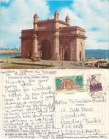 Gateway Of India, Mumbai, India Postcard Posted 1998 Stamp - India