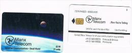 "ISLE OF MAN - MANX TELECOM CHIP - UNIVERSAL COMMUNICATIONS  (USED) CODE IOM23 AT LEFT + ""B"" AT RIGHT - RIF.7766 - Isola Di Man"