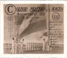 """ARGENTINA: RIQUISIMO MENÚ  DEL """"COLEGIO MILITAR DE LA NACIÓN"""". EDICIÓN ANIVERSARIO DEL 11 DE OCTUBRE 1957. GECKO. - Menus"""