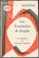 ´´  Les Fourberies De Scapin ´´ De Molière, Chez Bordas ( 1966 ) En 127 Pages - Theatre