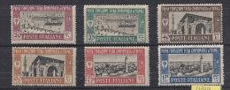 COLONIE ITALIANE  LIBIA 1927   1° FIERA DI TRIPOLI   SASS. 66-71 MLH VF - Libyen