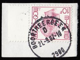 Belgique 1971-72  -  10 F. Rose-lilas, Roi Baudouin 1er  - Yvert  N° 1584  Sur Fragment - Used Stamps