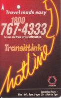 Singapore Subway Bus Ticket Farecard Used 'Hotline' - U-Bahn