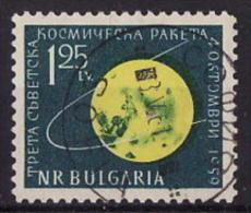 45-309 // BG - 1960  SOVIET MOON PROBE * LUNIK III * Mi 1152 A O - Bulgaria