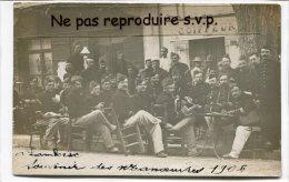 - Carte Photo - Lambesc - Souvenir Des Manoeuvres 1906 En Terrasse, 58 éme Régiment D´Infanterie, Splendide, , Scans - Manovre