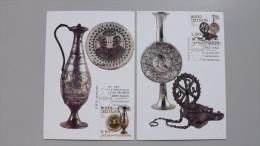 Vatikan 1578/9 YT 1431/2 Maximumkarte MK/MC No. 6/7-2007, ESST, 250 Jahre Christliches Museum - Cartes-Maximum (CM)