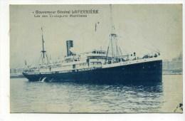 CPA  Bateau  : Gouverneur Général LAFERRIERE  Transports Maritimes  A   VOIR   !!! - Steamers