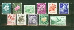 Norfolk Island 1960,11V,set,flowers,birds,bloemen,vogels,vögel,blumen,oiseaux,fleurs ,MH/Ongebruikt(A1336) - Norfolk Eiland