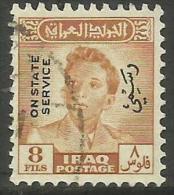 Iraq - 1948 King FaisaI II Official 8f  FU   SG O306  Sc O129 - Iraq