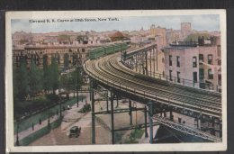 Elevated R.R Curve At 110Th Street - New York - Ponts & Tunnels