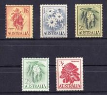 Australia 1959-1964 Flowers 5 Values MNH - Neufs
