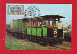 6486 - CARTE POSTALE TRAIN RAIL CHEMIN DE FER CHEMINOT LOCOMOTIVE SAUSSERON - Other Collections