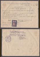 Czechoslovakia: Certificate Of Citizenship, Praha (Prague), 1946 , 8 KOLEK Stamp Of 1938 - Czechoslovakia