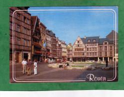 Rouen La Place Du Vieux Marché (carte Animée) - Rouen