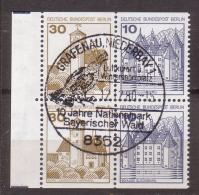 Berlin , 1977 Mi. Nr. W 65 U. W 66 ( 534 C / D , 532 C / D ) Als 4er O Stempel Aus Grafenau - Berlin (West)