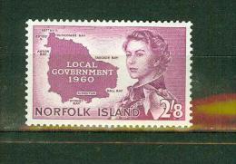 Norfolk Island 1960,1V.queen Elisabeth,Island,eiland,Insel,Île,isla,isola,MH, Ongebruikt(A1358 ) - Norfolk Eiland