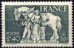France 1943 MNH 1 V Famille Du Prisonnier  Horses Horse Chevaux Cheval Caballos Cavalli Pferd Paarden - Agriculture