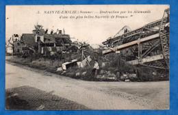 80-651 - SOMME - SAINTE EMILIE - Destruction Par Les Allemands D´une Des Plus Belle Sucrerie De France - Autres Communes