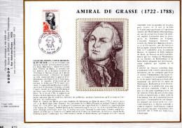 Feuillet Tirage Limité CEF Amiral De Grasse - Covers & Documents