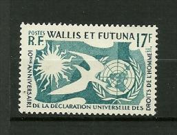 WALLIS Et FUTUNA 1958     N° 160    10ème Anniv.Déclaration Des Droits De L´Homme      Neuf Avec Trace De Charnière - Wallis-Et-Futuna