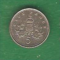 5  PENCE  GRANDE BRETAGNE 2001  (PRIX FIXE) (BK10) - 5 Pence & 5 New Pence