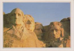 USA - Mount Rushmore - Les Têtes Des 4 Présidents - Texte Explicatif Au Verso - 2 Scans - - Mount Rushmore