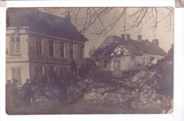 EVERGEM Belgique Carte Photo Destruction Guerre Eglise Estaminet Bombardement - Evergem